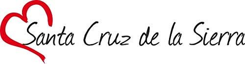 Vinilo Adhesivo para el Coche o la Moto, Sticker Santa Cruz de la Sierra Ciudad de Bolivia 4x16 cm Pegatina sin Fondo