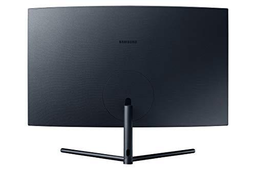 SAMSUNG UR59 Series 32-Inch 4K UHD (3840x2160) Computer Monitor, Curved, HDMI, Display Port, 3-sided border-less, Eye Saver Mode (LU32R590CWNXZA)