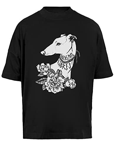 Vendax Seremos Libres - Greyhound Unisex Maglietta Larga A Maniche Corte Uomo Donna Nera Baggy T-Shirt Short Sleeves Black