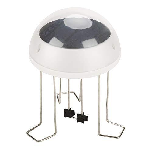 Jadpes Wasser Wackeln für Vogelbad, Solar Power Wasser Wackeln für Vogelbad, Glasvogelbad im Freien mit Ständer und Solarlicht für Garten Rasen Patio Dekor unterstützt