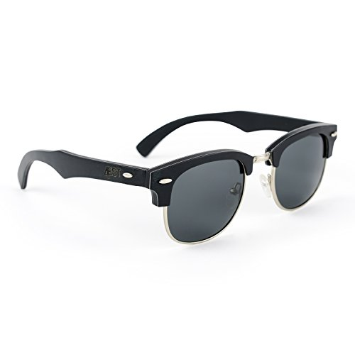 4EST Shades Wood Rimless Sunglasses – Handmade Wooden Frame, UV 400 Polarized Lens, Includes Case and Microfiber Cloth