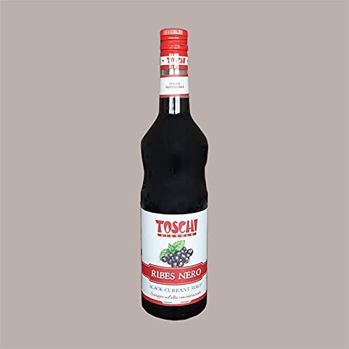 Lucgel Srl 1.320 kg Sirope de grosella negra en botella de vidrio TOSCHI para helado de aperitivo granizado