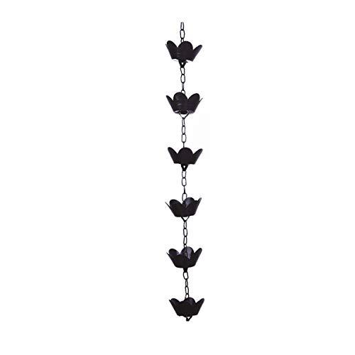 YARNOW Regenkette Lotus Form Kupfer Dekorative Regenwasserkette Dachrinnenkette Regenablauf Gartendekoration für Dachrinne Fallrohr