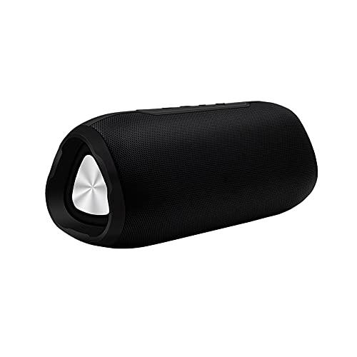 Bdesign Altavoz portátil de Bluetooth multifunción, Volumen más Fuerte, Sonido estéreo Claro de Cristal, bajo Rico, Rango inalámbrico de 100 pies, micrófono (Color : Black)