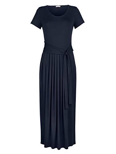 Alba Moda Damen Kleid Marineblau 48 Viskose