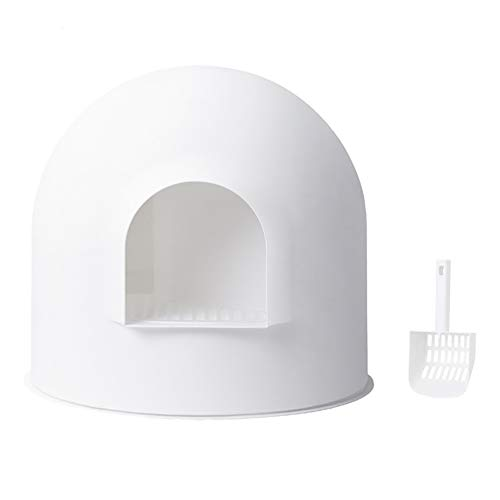 pidan 猫トイレ 本体 大きめ 大型 消臭 ドーム 大きい 猫トイレ本体 猫のトイレ スコップ付き 超大型 砂飛び散りから解放(ホワイト)