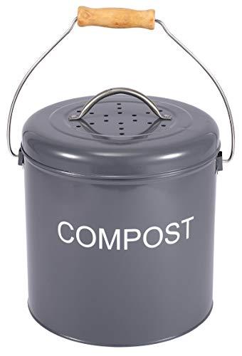 Xbopetda Compost Bin for Kitchen Countertop, Indoor Scraps Compost Bucket...