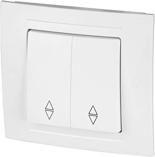 Interruptor de conmutación en serie UP todo en uno, marco + pieza empotrable + cubierta (Serie M1 blanco puro)