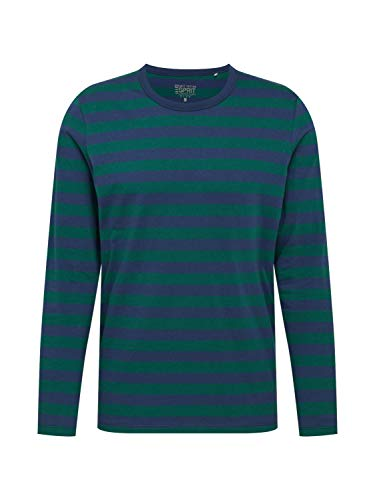 ESPRIT Herren 100EE2K311 T-Shirt, 387/BOTTLE Green 3, L