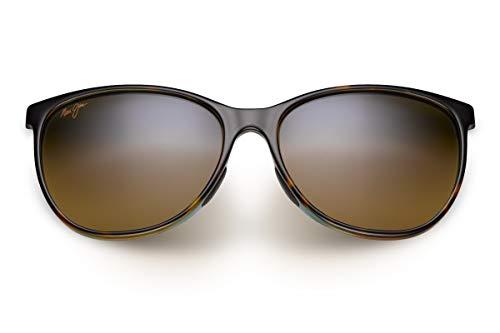 Maui Jim Women's Ocean Polarized Cat-Eye Sunglasses, Tortoise with Peacock, Medium