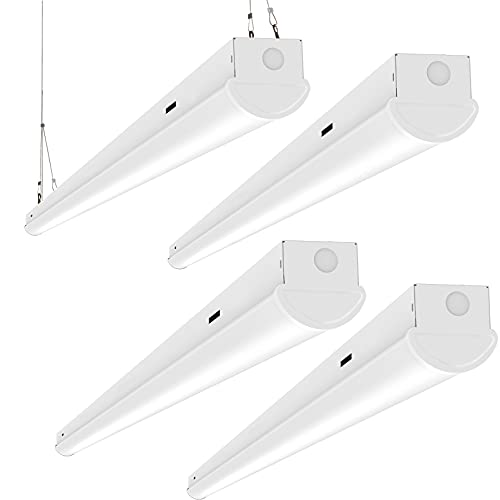Lightdot 8FT 110W Flush Mount and Suspend LED Shop Linear Fixture 14500 Lumen, 5000K Daylight for Garage Warehouse Shop Basement (4 Pack)