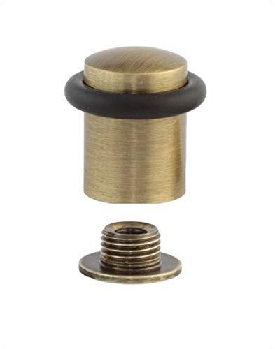 EVI Herrajes Butée de porte en laiton avec caoutchouc amortisseur de différentes couleurs 04010820CU Cuir Vieilli Laiton/Caoutchouc Noir 27 x 29 mm