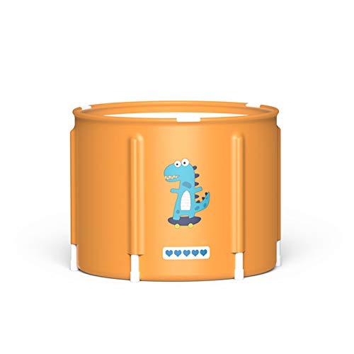 YzDnF Bañera de remojo Bañera Plegable Multifuncional Bañera Plegable para el hogar Espesado Bañera Bañera Cubo de baño Niños Bañera Simple (Color : B, Size : 55x42cm)