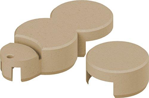 Bio-Rasenkante RKS-SAND-SET 2 Rasenkantensteine, 22 x 10 x 5,5 cm, sand