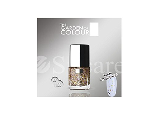Vernis ongles nail - Glitter pailleté Or Multicouleur - N°100 - Mini G.O.COLOR