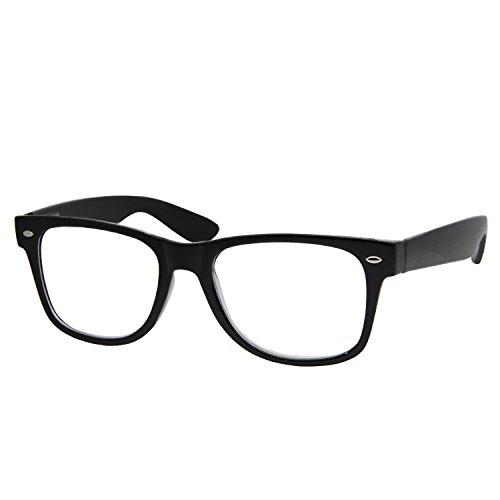 Gafas de lectura de los lectores del poder de la alta ampliación 4.00-6.00, negro, talla única
