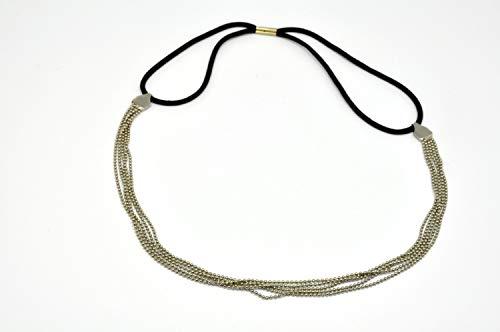 Headband élastique Multi Chaine Argenté - Anne Ghe