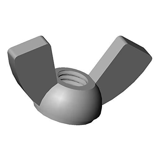 ajile - 20 pièces - Écrou papillon à oreilles nylon diam. M6 plastique polyamide PA6.6 isolant - Écrou à ailettes