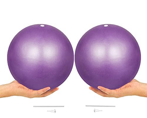 ONET Gymnastikball, 25cm Gymnastikball Klein, 2pcs Yogaball Gymnastikbälle Sitzball, Gymnastikball Sitzball, Rutschfester Superleichter Gymnastikball im Gym-Home-Büro