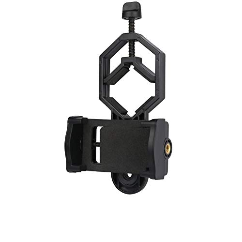 NOCOEX Supporto per Adattatore Universale per Cellulare - Binocolo Compatibile Cannocchiale per Telescopio Monoculare Telescopi Spotting Scope - Adatto a Quasi Tutti Gli Smartphone sul Mercato