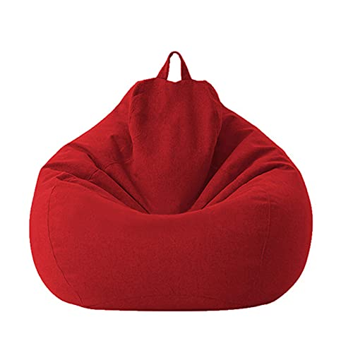 Bean Bag Cover Cozy Plush Toy Bean Bags Silla de Almacenamiento Sofá Funda para Adultos Niños sin Rellenos Sala de Estar Interior al Aire Libre BeanBag Seat