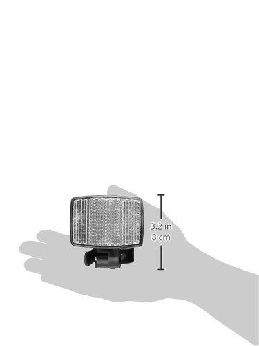 Fischer Erwachsene Front Vorbaubefestigung Reflektor, schwarz, One Size - 4