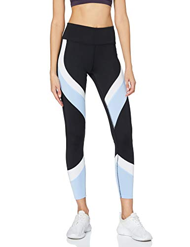 Aurique Leggings deportivos para Mujer, Negro (Black/Serenity/White), S