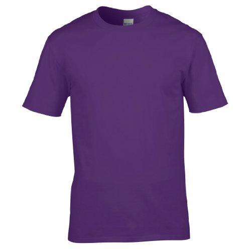 Gildan Premium T-Shirt für Männer (L) (Lila) L,Lila