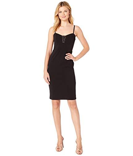 Bebe Damen Illusion Cutout Cocktail Dress Kleid, schwarz, 40