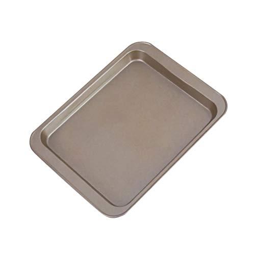 Mankoo Brat et Plat de Cuisson Plaque de Four rectangulaire avec revêtement antiadhésif Moule à gâteau de Pain rectangulaire métallique Plaque de Cuisson Bricolage Plaque de Cuisson