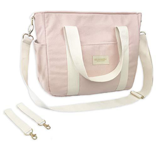ESLESGREEN Maternal Wickeltasche für Kinderwagen aus Bio-Baumwolle (PINK)