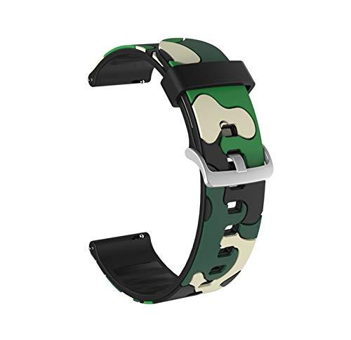 DANGAO Aplicar a Smart Watch Silicone Wamkband Band Watch Accesorios Correa de Goma Pulsera Cinturón Impermeable (Color : CAM Green, Size : For Galaxy 3 45)