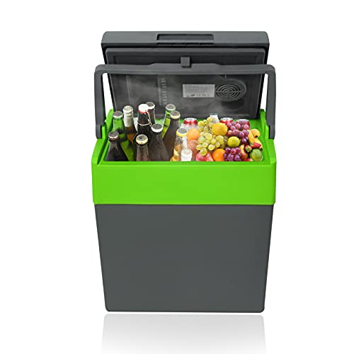 Aufun 30 L - Mini frigorifero elettrico portatile, 12 V, 230 V, funzione di mantenimento del calore, per campeggio, casa, yacht, ufficio, farmacia, negozi di cosmetici, 30 l