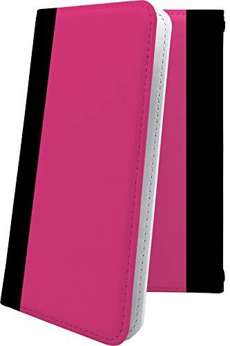 スマートフォンケース・ZenFone5Q ZC600KL・互換 ケース 手帳型 ピンク 桃色 おしゃれ ゼンフォン5q ゼンフォン5 手帳型スマートフォンケース・かっこいい zenfone 5q 5 q ボーダー マルチストライプ [FqS419027WX]