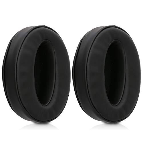 kwmobile 2x Auricolari di ricambio compatibile con Sennheiser HD 4.50 BTNC - Cuscinetti sostitutivi cuffie Over Ear in similpelle per Headphones - nero