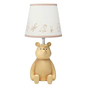 Lambs & Ivy Disney Baby Storytime Pooh 3D Table Lamp with Shade