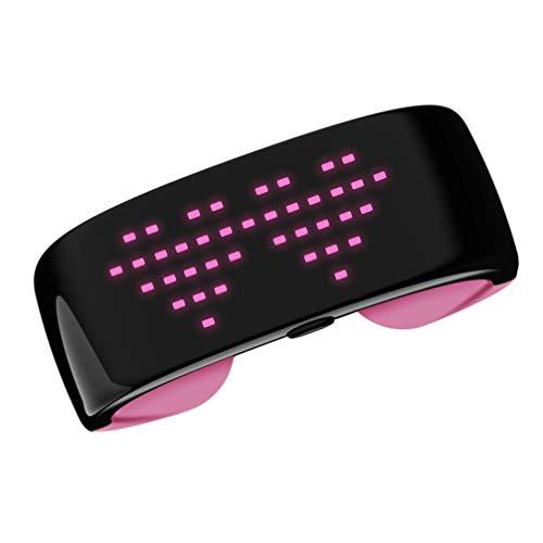 TOYANDONA Display A LED Modello Differente Bracciali Adatto per La Notte di Danza Jogging Concerto All'aperto Sport Rosa