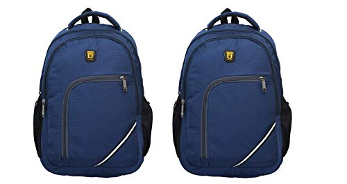 Blowzy Bags Blowzy 35 L Backpack Combo for School, Collage, and Laptop for Boys and Girls (Navy Blue)