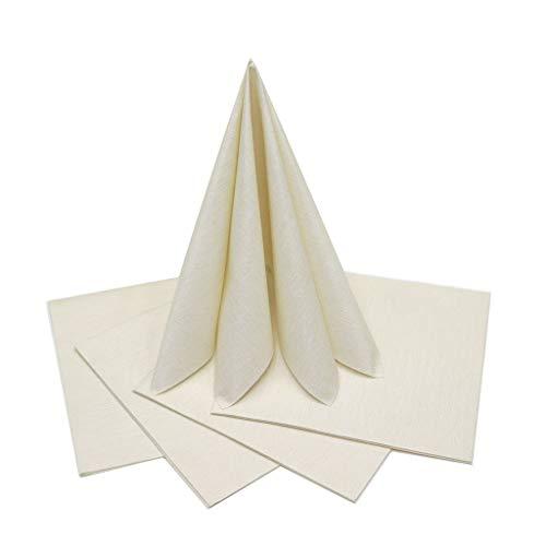 the napkins TND40.20.CH 20 plus 1 Deluxe servet, stofachtig, 40 x 40 cm, champagne