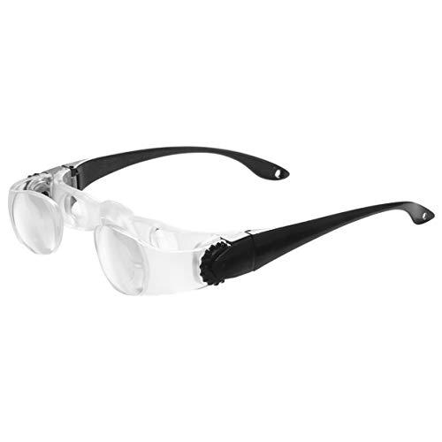 FAVOMOTO TV Lupen Fernsicht TV Bildschirm Lupe Brille Brille Stirnband Headset Angeln Teleskop Glas
