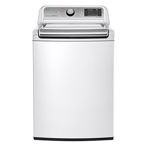 LG White 5.2-cubic-foot Mega Capacity Top-load Washer with Turbowash Technology, Model WT7600HWA
