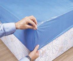 Shermond Protezione per Materasso, Impermeabile, USA e Getta, Confezione da 10 Pezzi, 90 x 210 x 20 cm, Colore: Blu