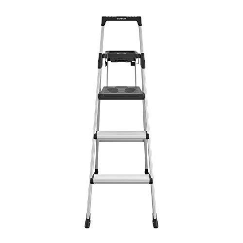 COSCO 20502ABL1E Signature Series Step Ladder, 5ft, Aluminum