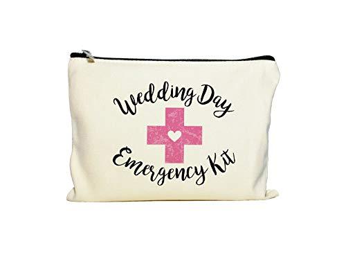 Moonwake Designs Wedding Day Emergency Kit Makeup Bag, Bridal Shower Gift, Wedding Survival Kit,...