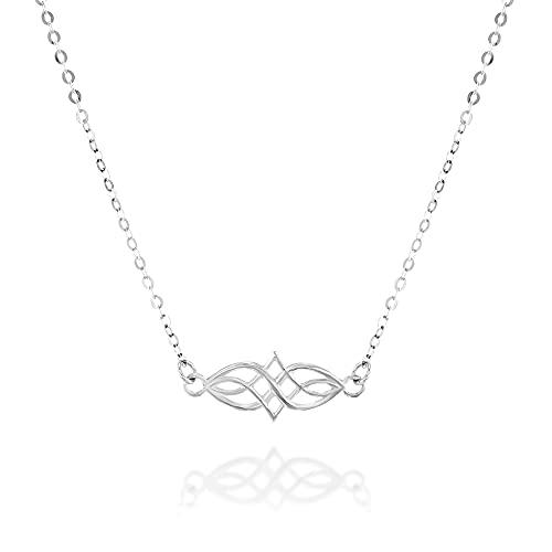 Sterling Silver Celtic Choker Necklace - Designer Handmade Collar Chain 13.5 inch + 3 inch Extender
