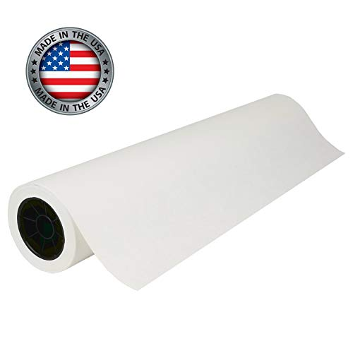 """White Kraft Butcher Paper Roll - 24"""" x 400' (4,800 in) - Best Food Service Wrapping Paper for Smoking Meats, Crawfish Boil, or Table Runner   Uncoated & Unwaxed     Made in USA"""