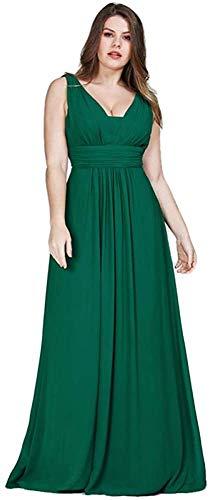 Ropa de Mujer Vestidos de Noche de Talla Grande Gasa una Línea Vestidos de Fiesta Largos para Invitados de Boda-As_Shown_4, LIFU