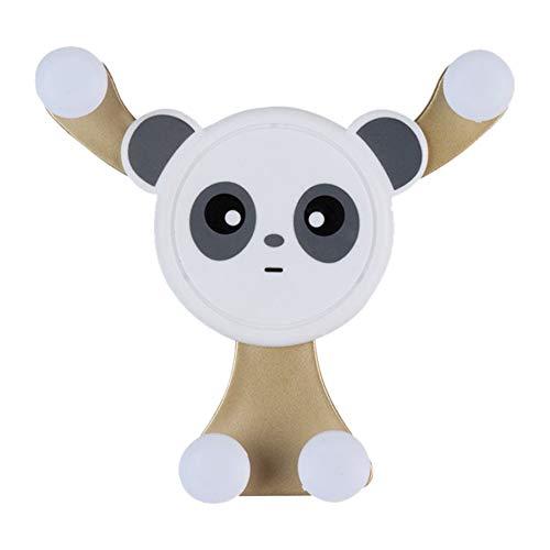 Soporte de teléfono de coche manos libres, soporte para teléfono móvil de montaje de ventilación de aire, soporte de gravedad lindo de la forma del panda dorado
