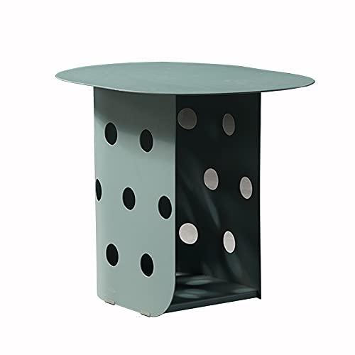 Mesa de Centro Mesa de centro creativa nórdica de hierro forjado, mesa de almacenamiento de dos capas con mesas auxiliares y esquinas, adecuada para el balcón del sofá de la sala d(Color:mesa de café)