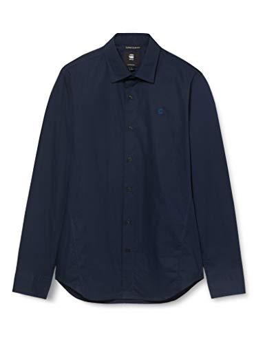 G-STAR RAW Dressed Super Slim Camisa, Mazarine Blue C271/4213, Medium Mens